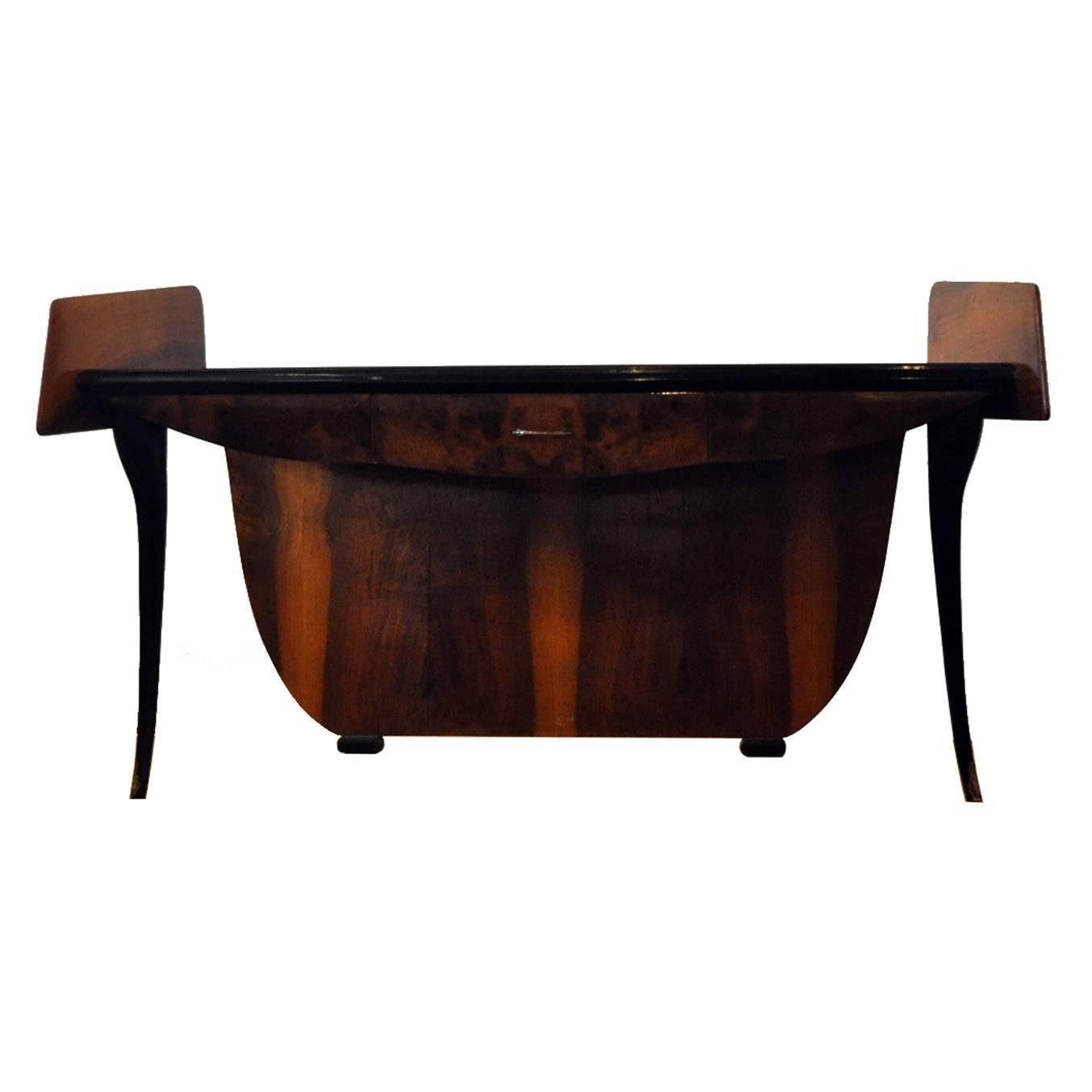 Merveilleux Italian Mid Century Modern Low Console Table For Sale At 1stdibs