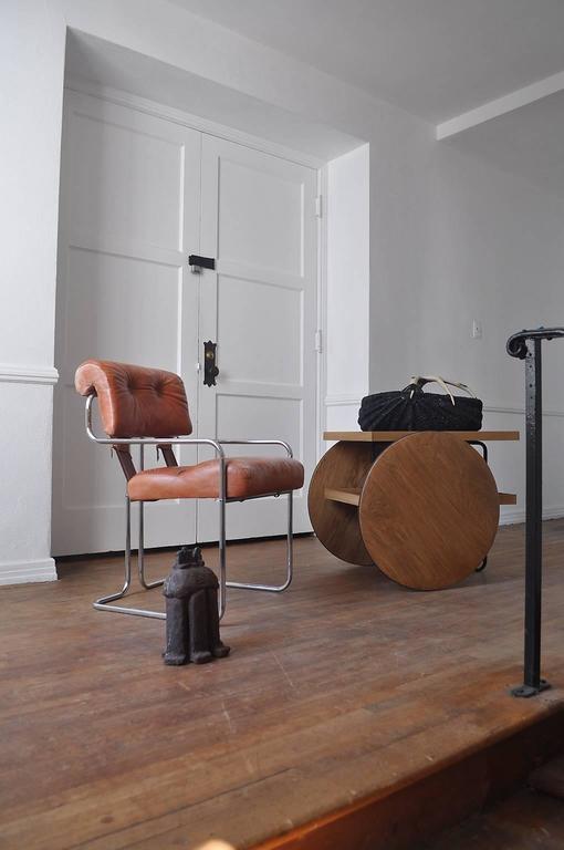 chariot bar cart for sale at 1stdibs. Black Bedroom Furniture Sets. Home Design Ideas
