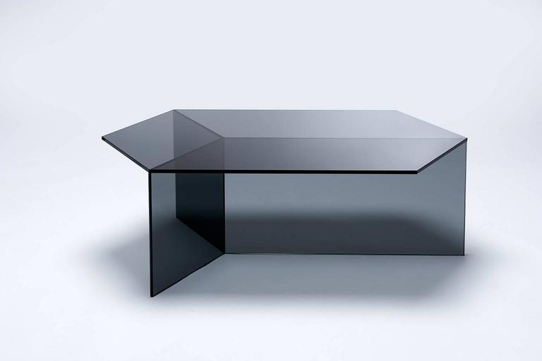 The Isom Tables Play With An Intriguing Optical Illusion. Made From  Hexagonal Tops Resting On