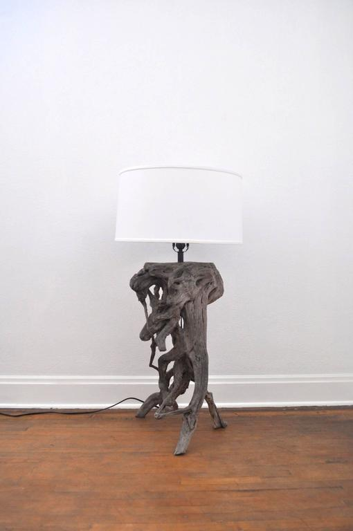 vintage driftwood lamp for sale at 1stdibs. Black Bedroom Furniture Sets. Home Design Ideas