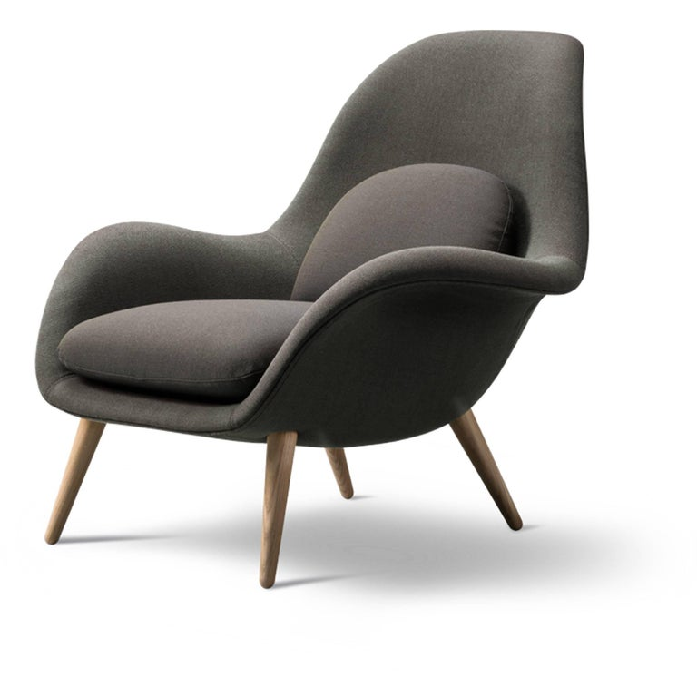 Scandinavian Modern Swoon Chair For Sale