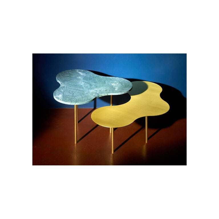 Brass Camo Modular Coffee Table For Sale
