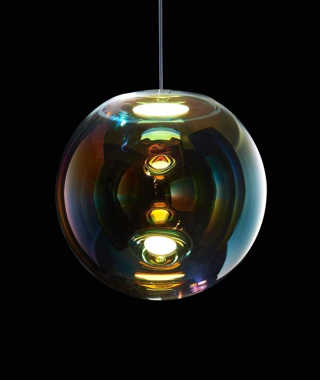 German Iris Pendant Light For Sale