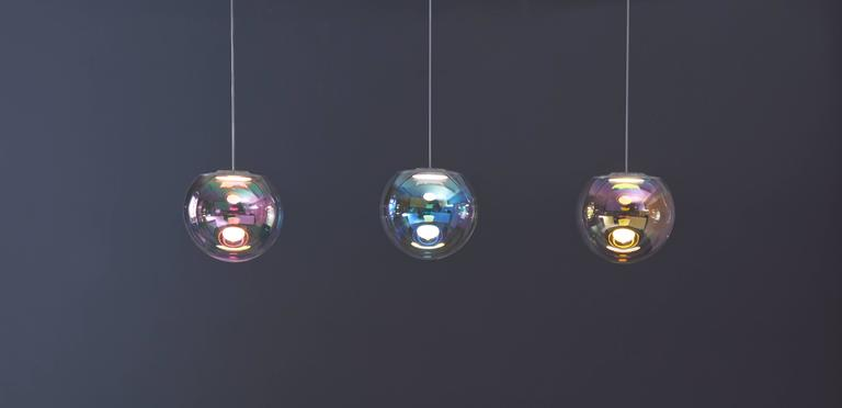 Iris Pendant Light In Excellent Condition For Sale In Los Angeles, CA