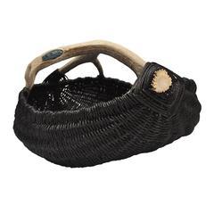 Custom Antler Basket with Blue Kyanite