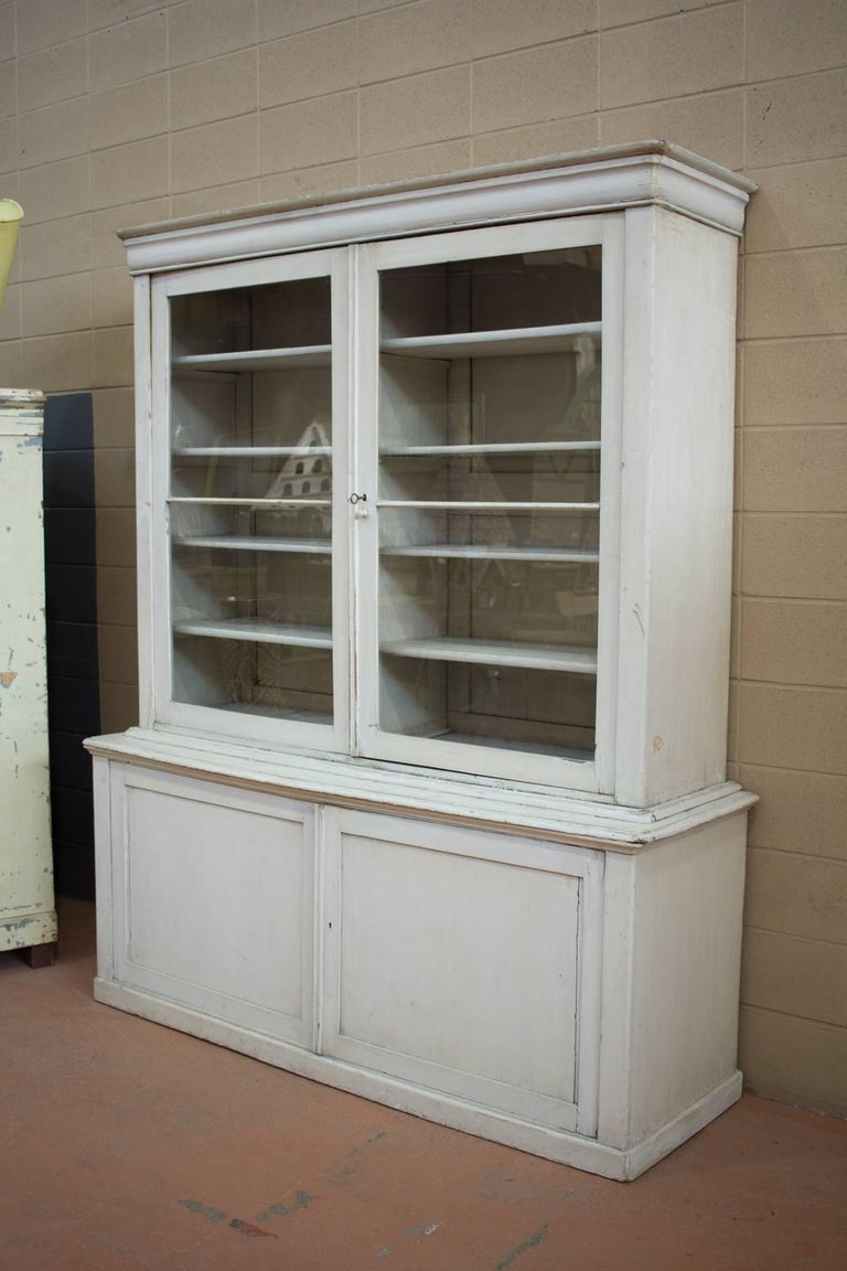 British Large Antique English Bookcase For Sale
