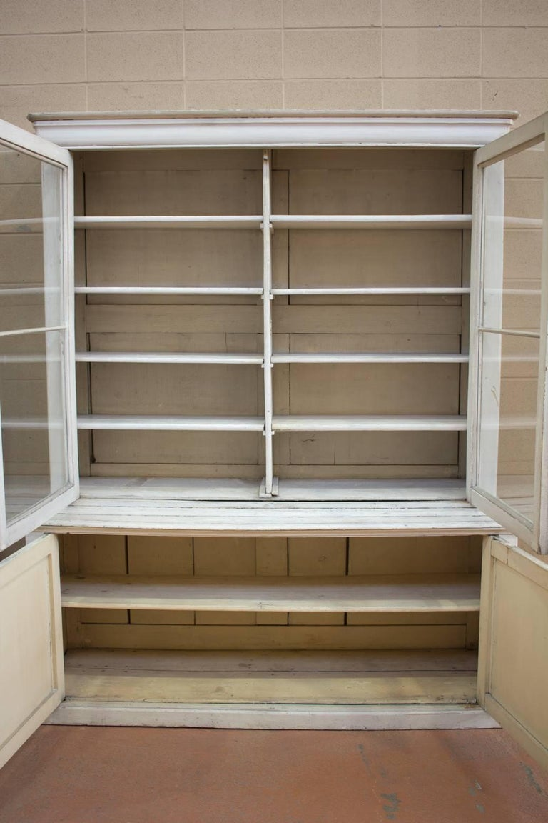 Large Antique English Bookcase In Good Condition For Sale In Calgary, Alberta