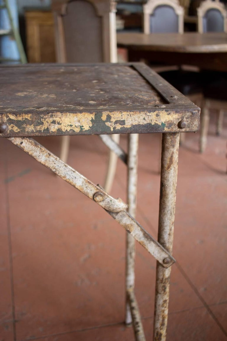 20th Century Metal Folding Potting/Garden Table For Sale