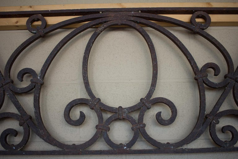 Arts and Crafts Antique American Arts & Crafts Wrought Iron Transom For Sale
