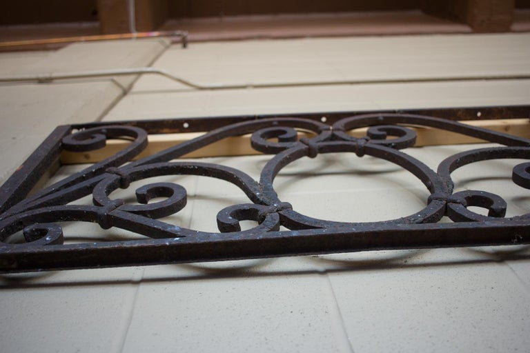 Antique American Arts & Crafts Wrought Iron Transom For Sale 1