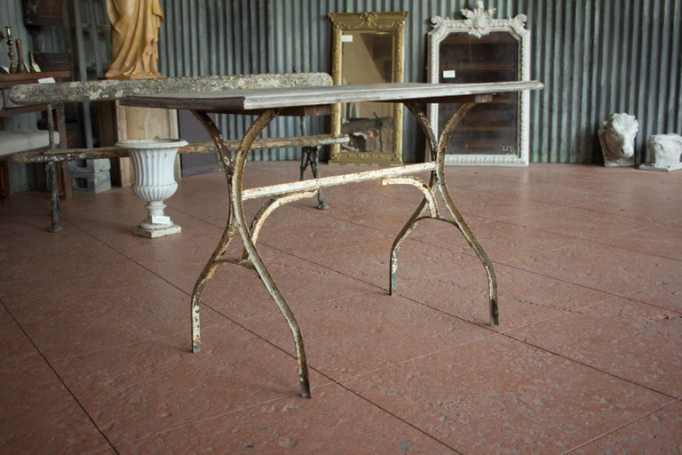 Vintage French Bistro Table In Good Condition For Sale In Calgary, Alberta
