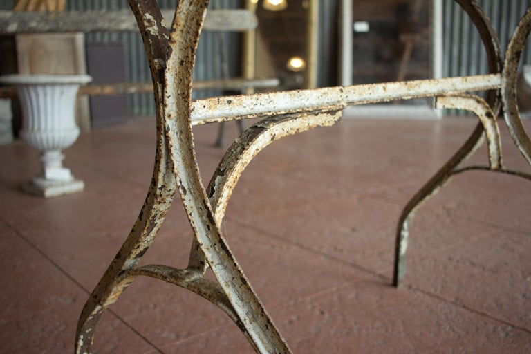 Iron Vintage French Bistro Table For Sale