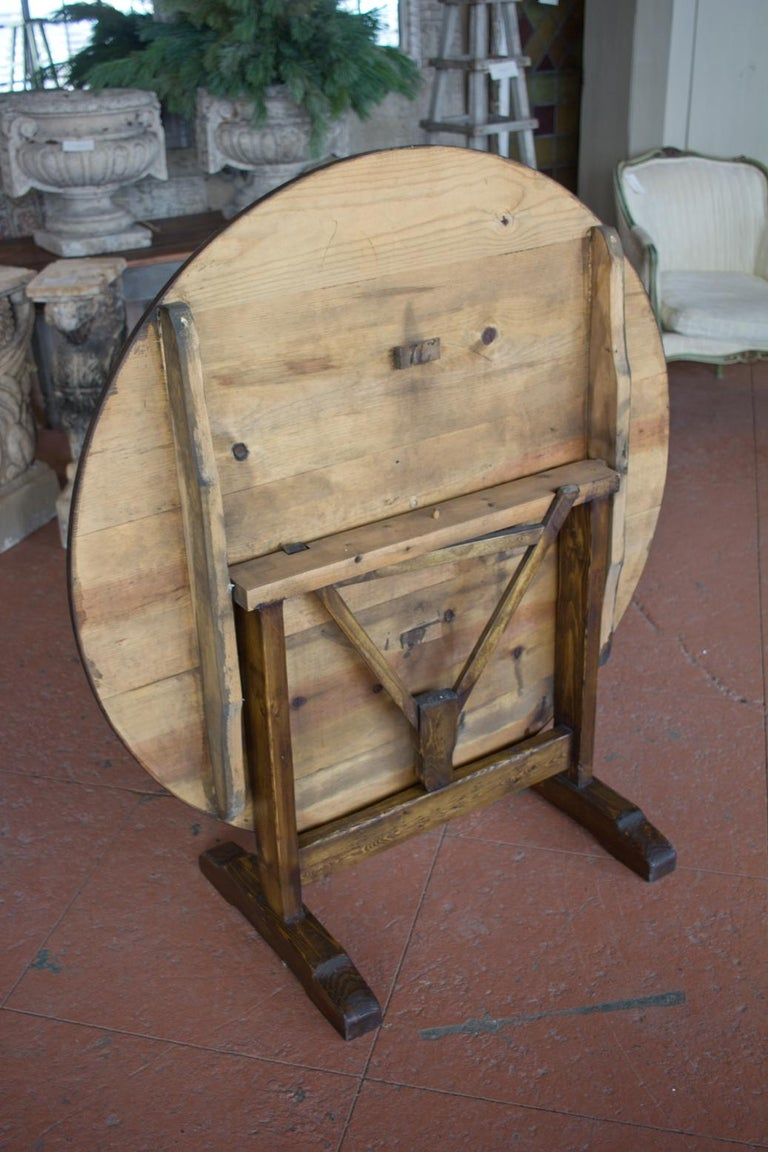 Vintage French Vendange Tilt-Top Table For Sale 2