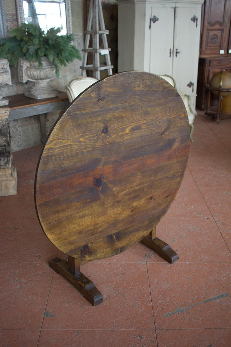 Vintage French Vendange Tilt-Top Table For Sale 3