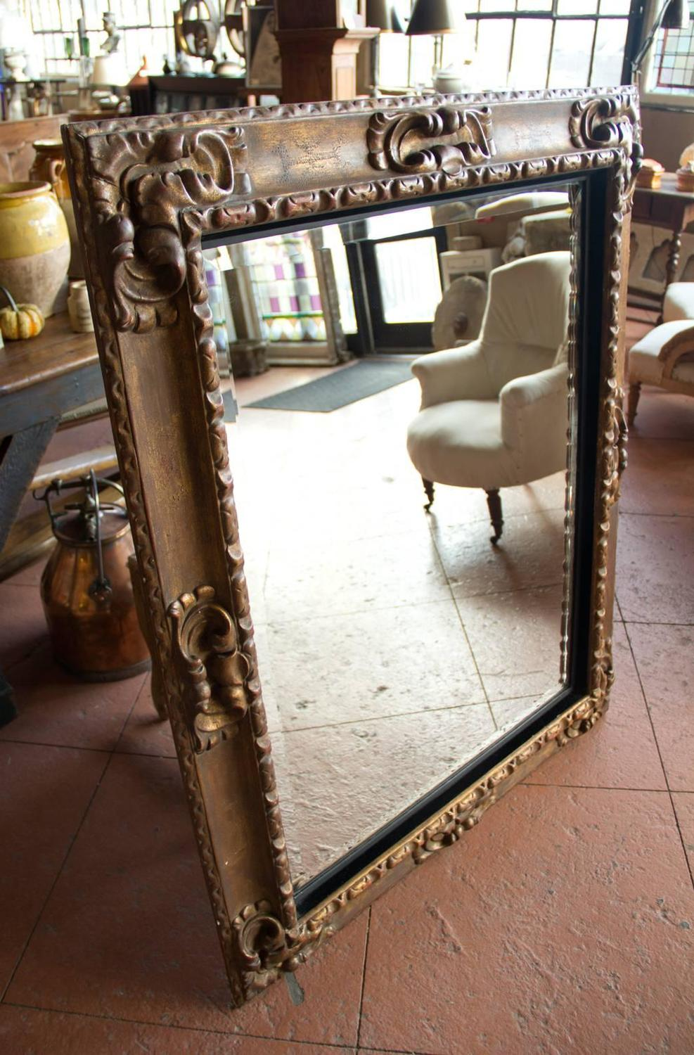 19th Century French Giltwood Mirror For Sale At 1stdibs