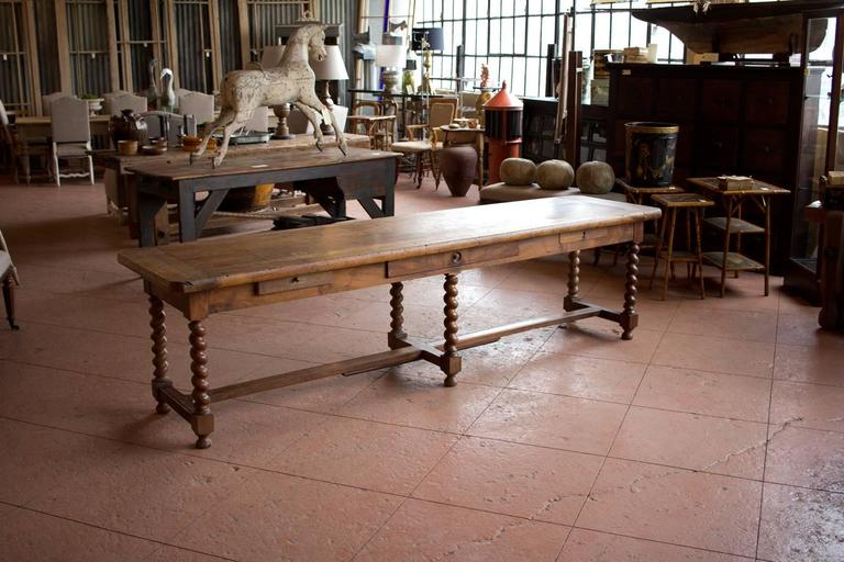 Substantial 19th century french walnut draper 39 s table at for 19th century french cuisine