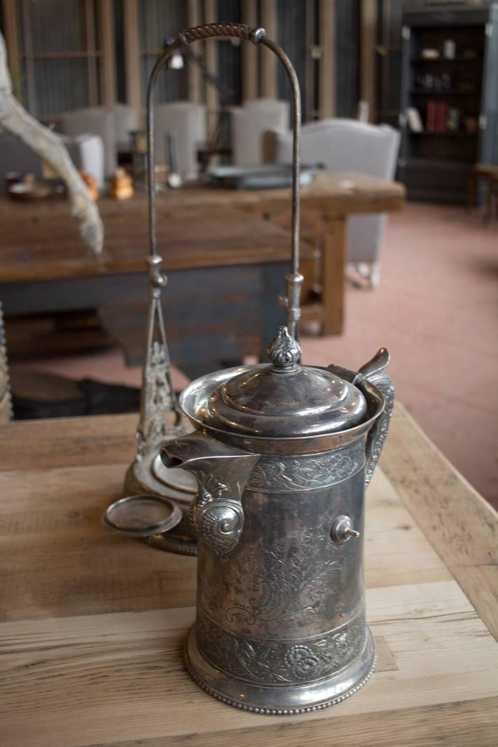 Antique Silver Plated Tilt Water Pitcher At 1stdibs