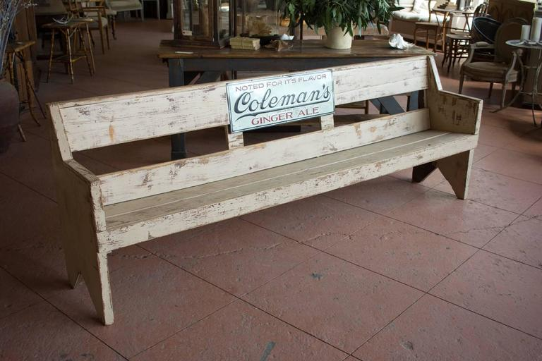 Vintage American Advertising Bench For Sale At 1stdibs