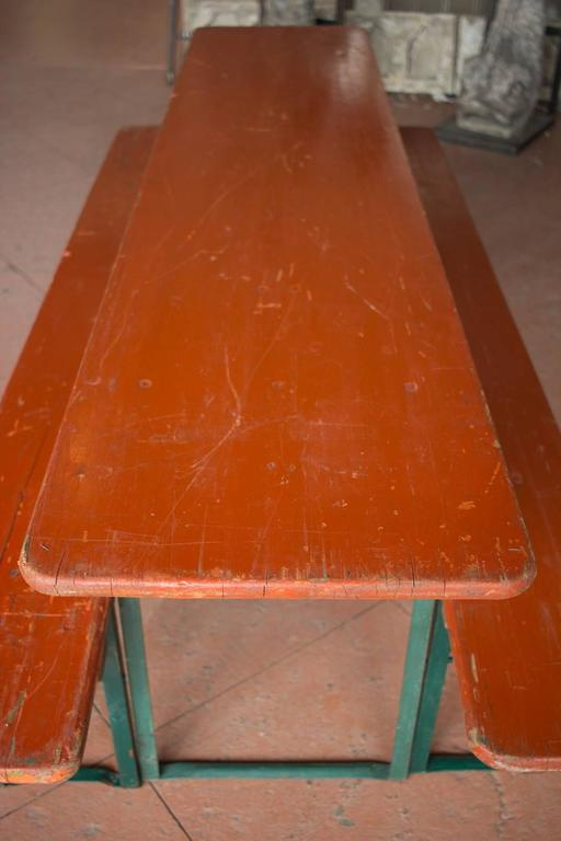 Vintage German Beer Festival Table And Benches At 1stdibs