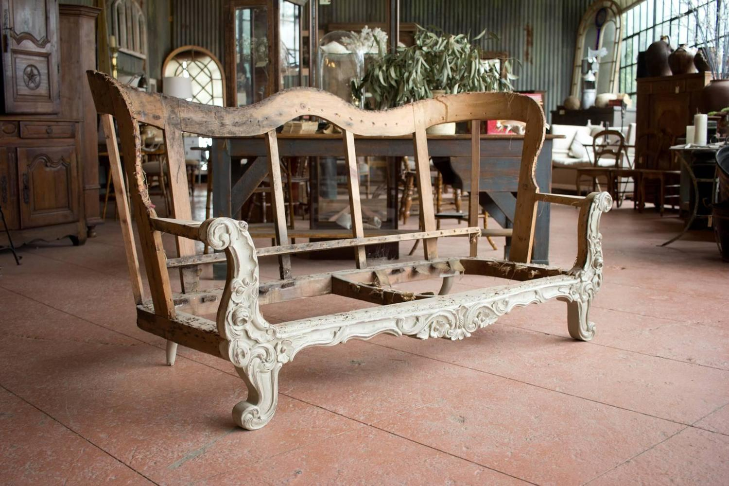19th Century Carved Wood Sofa Frame For Sale At 1stdibs