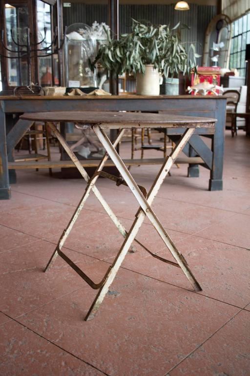 Antique French Folding Bistro Or Garden Table At 1stdibs