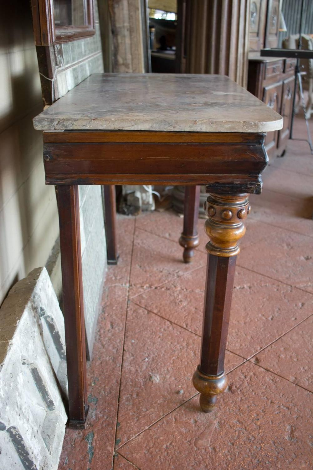 English Victorian Console Table With Large Mirror For Sale