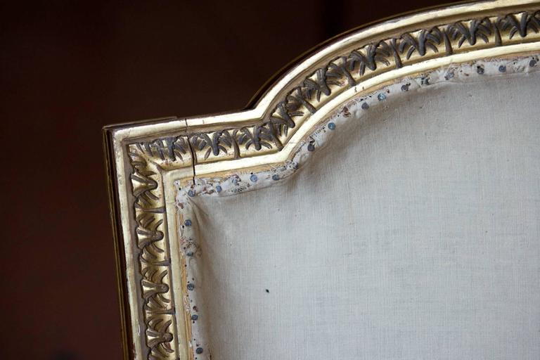 Louis XVI Petite French Bergère Settee For Sale