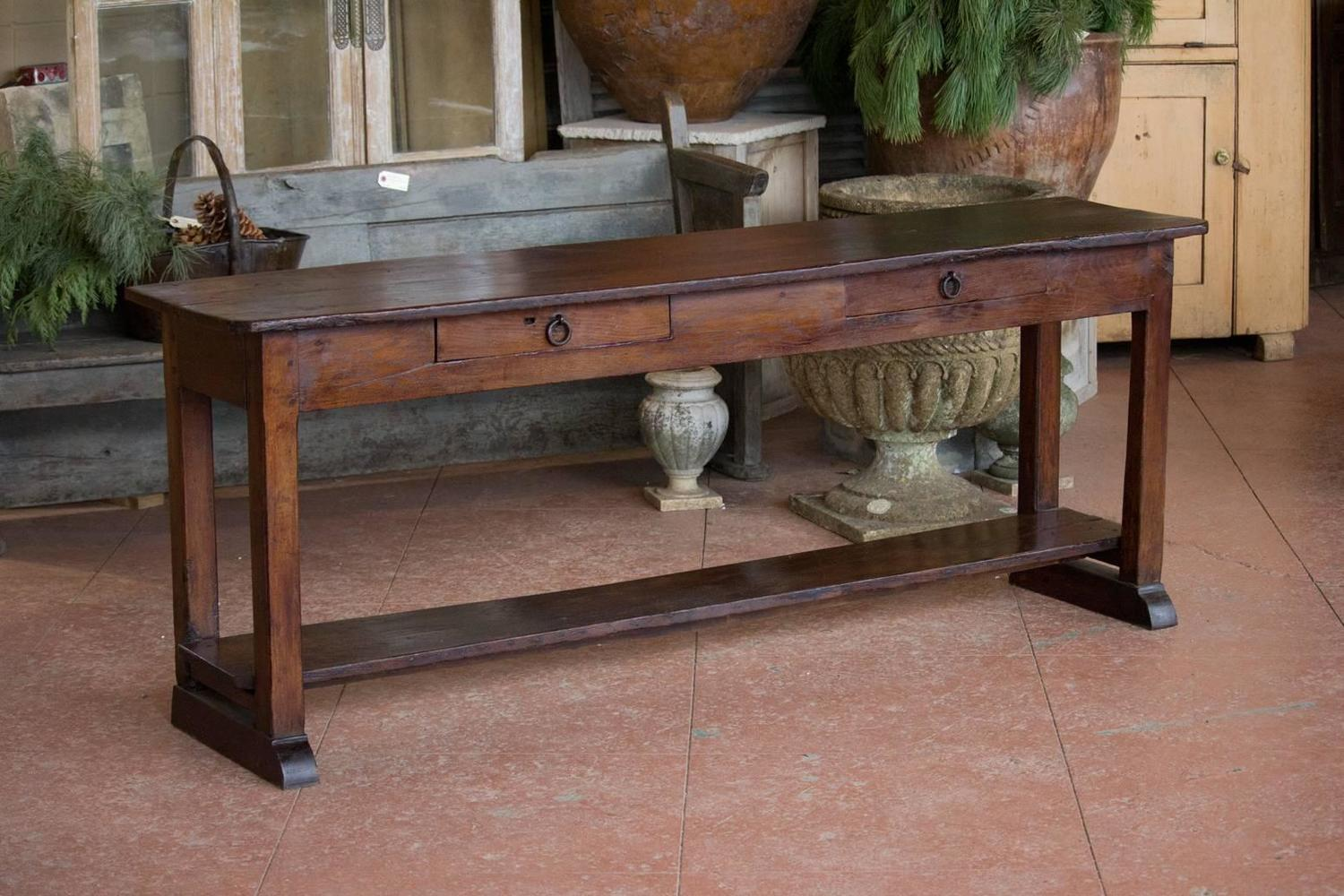 Antique French Farmhouse Serving Table For Sale At 1stdibs