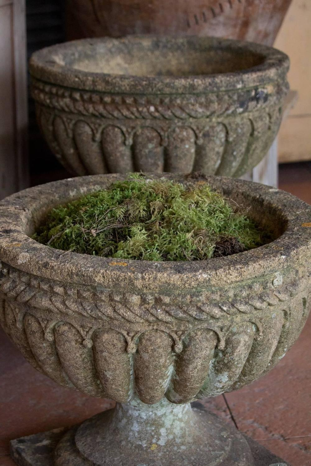 Pair Of English Antique Stone Urns For Sale At 1stdibs