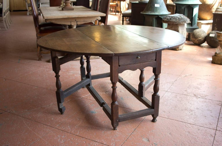 17th Century Antique Oak Gate Leg Table At 1stdibs