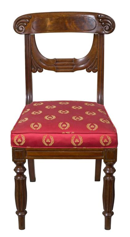 American Important Rare Set of Six Neoclassical Side Chairs, Boston, circa 1815 For Sale