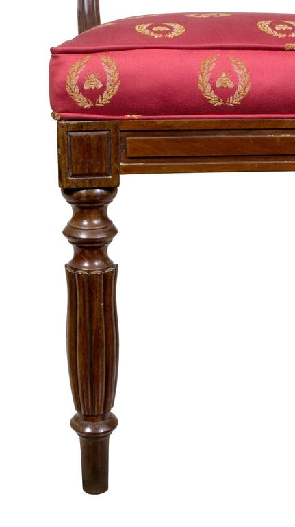 Important Rare Set of Six Neoclassical Side Chairs, Boston, circa 1815 For Sale 1