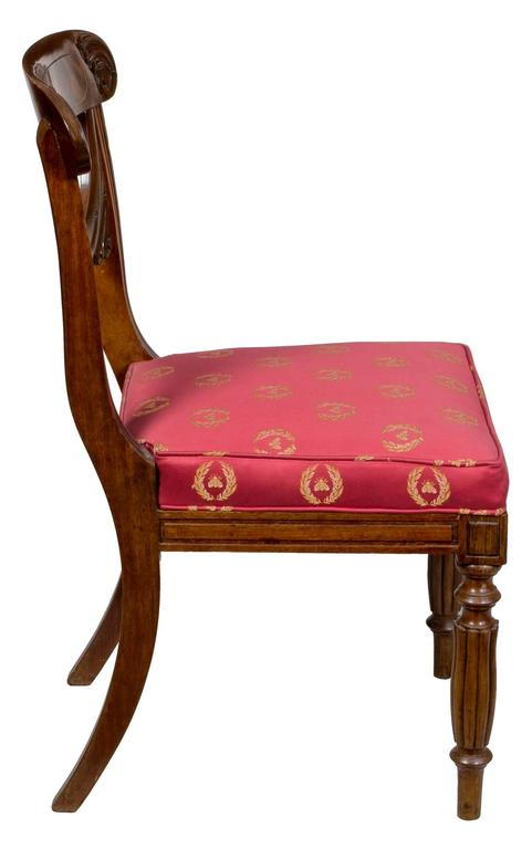 19th Century Important Rare Set of Six Neoclassical Side Chairs, Boston, circa 1815 For Sale