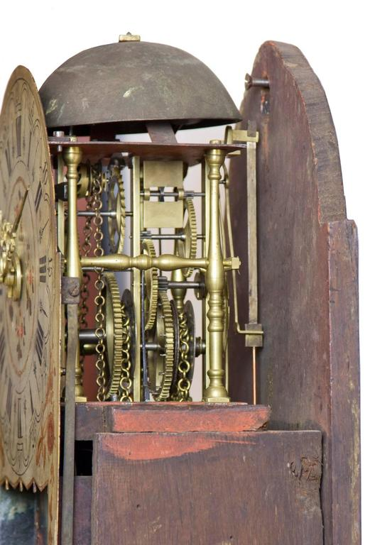 Dutch Marquetry Freisland Clock with Automata, Netherlands, circa 1890 For Sale