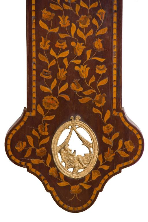 Aesthetic Movement Marquetry Freisland Clock with Automata, Netherlands, circa 1890 For Sale