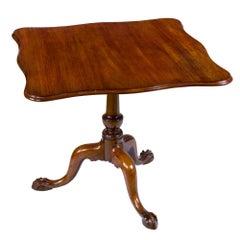 Chippendale Mahogany Serpentine Tilt-Top Tea Table, MA, circa 1770-1780