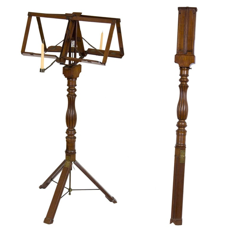 rare classical mahogany metamorphic duet musical stand campaign furniture for sale at 1stdibs. Black Bedroom Furniture Sets. Home Design Ideas