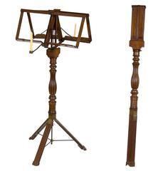 Rare Classical Mahogany Metamorphic Duet Musical Stand, Campaign Furniture