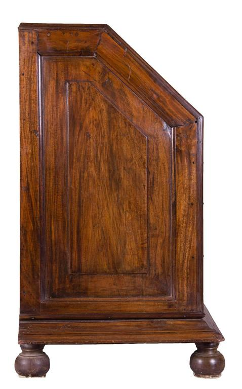 Important Paneled Block-Front Paduk Wood Fall-Front Desk, China For Sale 2