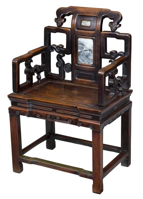 Chinese chairs of this period are available; however, those of the quality seen here are quite scarce. Note these chairs retain their original finish, something which is very important to us antiquarians. Pairs are rare and those with original
