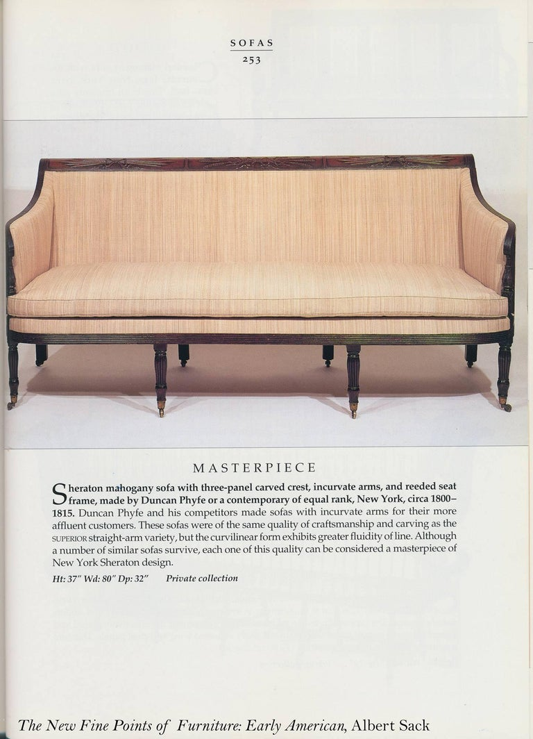 Classical / Federal / Sheraton Carved Mahogany Phyfe Sofa, New York, circa 1810 For Sale 3