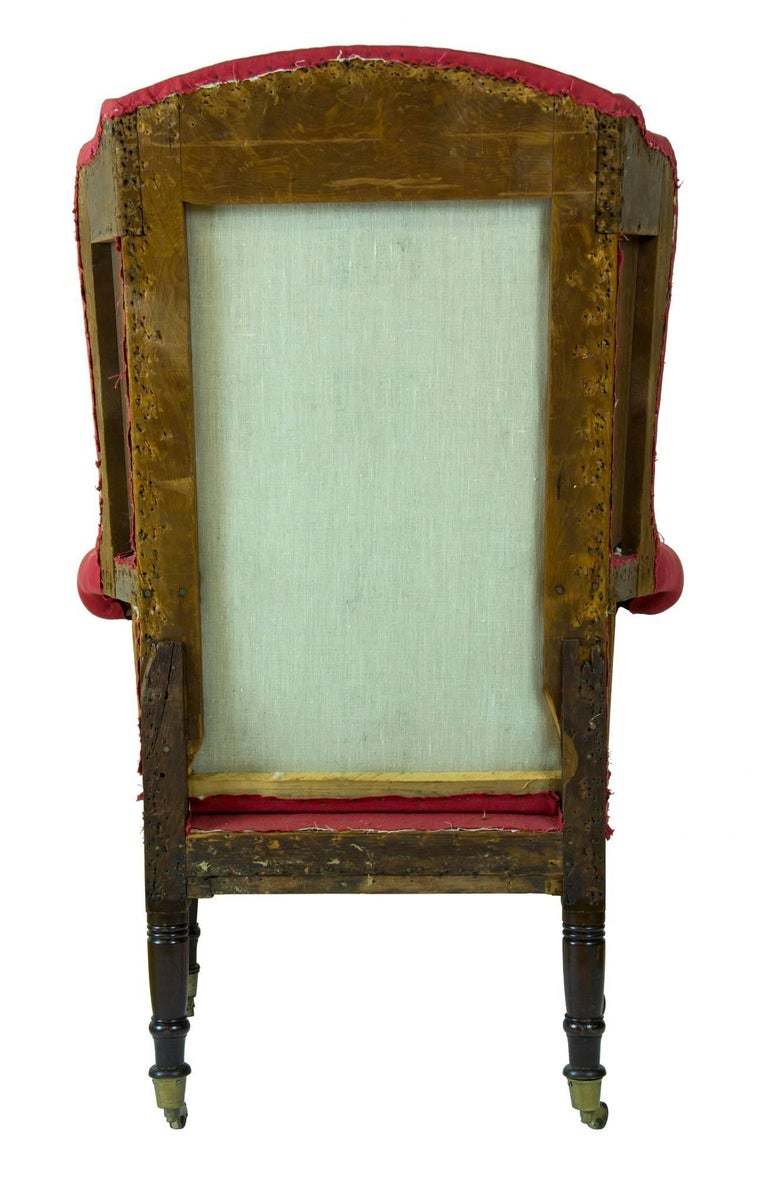 American Diminutive Federal Sheraton Wing Chair, New England, circa 1800-1810 For Sale