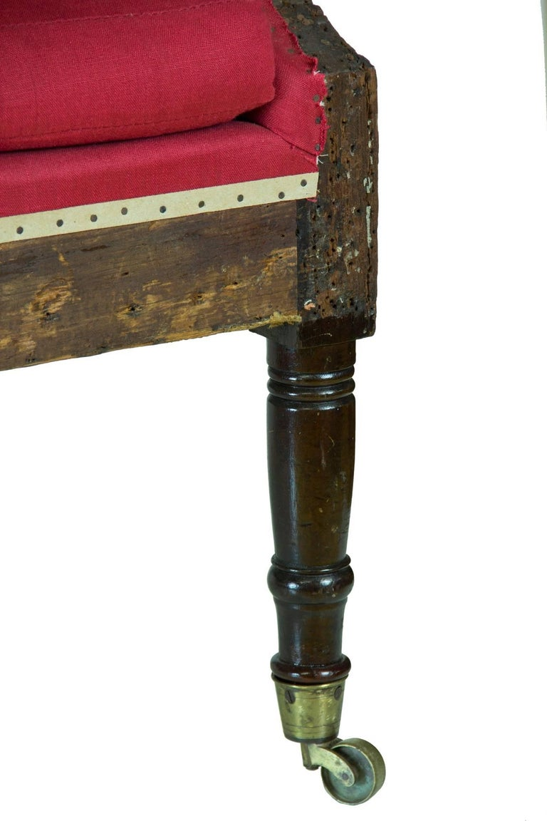 Early 19th Century Diminutive Federal Sheraton Wing Chair, New England, circa 1800-1810 For Sale