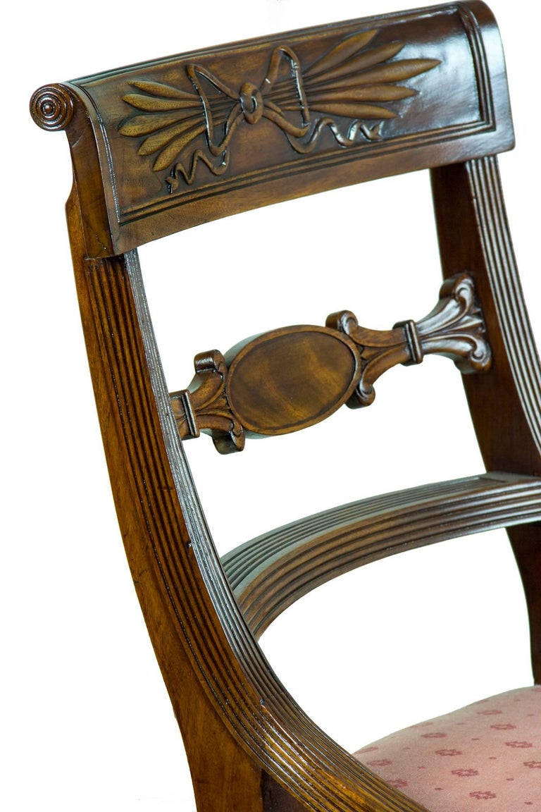 American Classical Set of Six Classical Mahogany Dining Chairs, Phyfe Circle, New York, circa 1810 For Sale