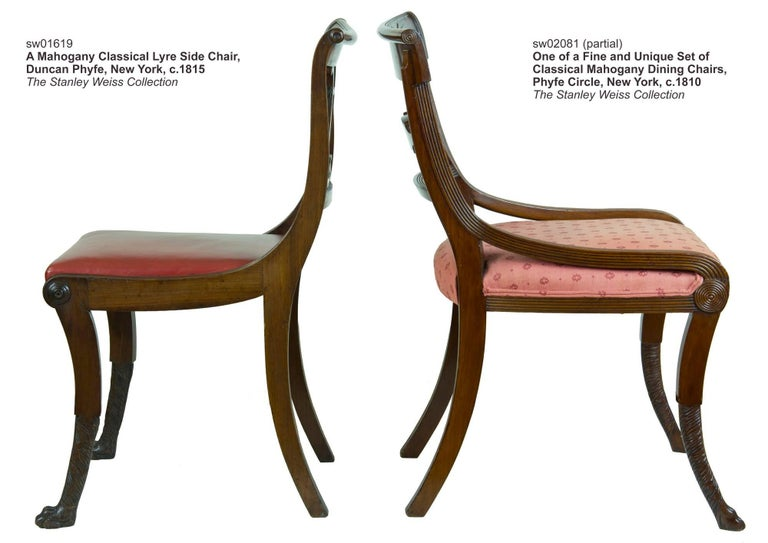 Set of Six Classical Mahogany Dining Chairs, Phyfe Circle, New York, circa 1810 For Sale 3