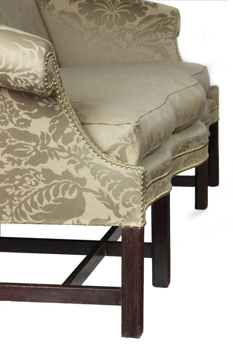 Fine Chippendale, Federal Mahogany Camelback Sofa