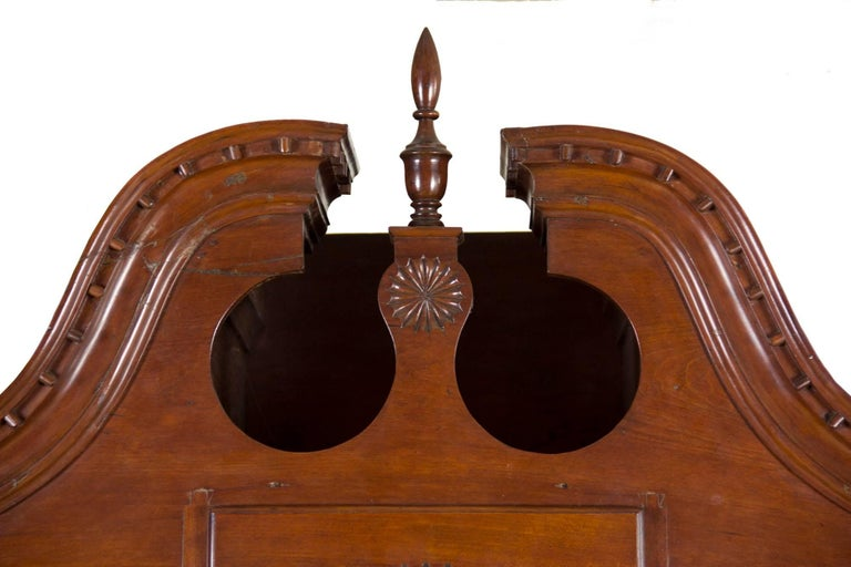 American Chippendale Bonnet Top Chest-on-Chest, Cherrywood, Wethersfield, CT For Sale