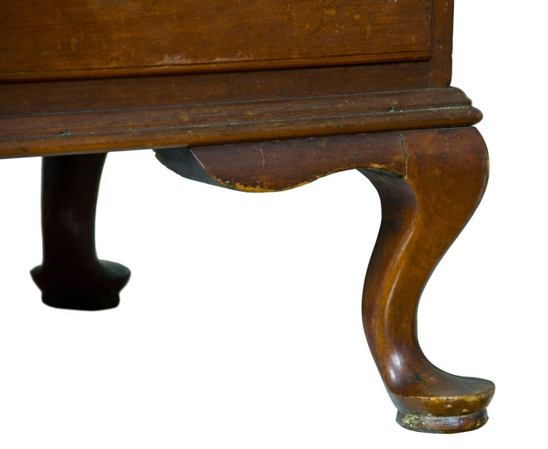 18th Century Chippendale Bonnet Top Chest-on-Chest, Cherrywood, Wethersfield, CT For Sale
