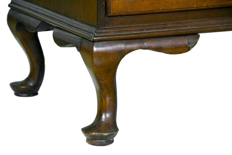 Mahogany Chippendale Bonnet Top Chest-on-Chest, Cherrywood, Wethersfield, CT For Sale