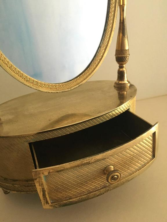 19th Century Beautiful French, First Empire Gilt Bronze Mirror, circa 1810-1820 For Sale